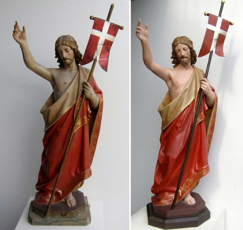 Jesus, before and after restoration